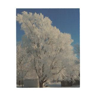 冬の木 ウッドウォールアート