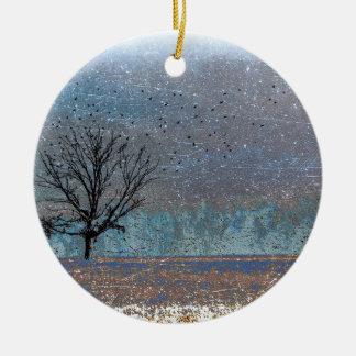冬の木 セラミックオーナメント