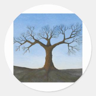 冬の木 ラウンドシール