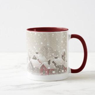 冬の村のコンボのマグ マグカップ