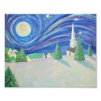 冬の村の写真のプリント フォトプリント