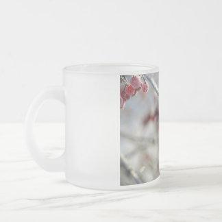 冬の果実のコップ フロストグラスマグカップ