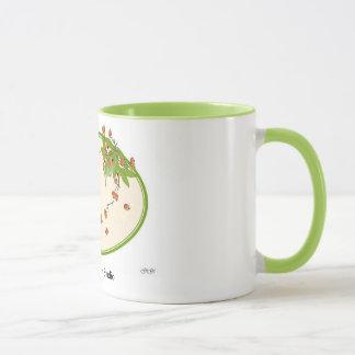 冬の果実のリースのマグ マグカップ