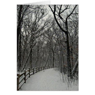 冬の森カード カード