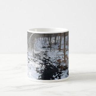 冬の森林が付いているコップ コーヒーマグカップ