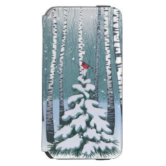 冬の森林の樺の木 INCIPIO WATSON™ iPhone 6 ウォレットケース