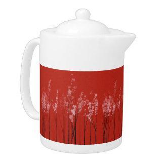 冬の森林茶ポット