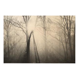 冬の森林 ウッドウォールアート