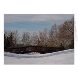 冬の歩道橋 カード