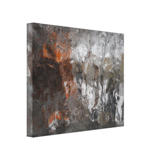 冬の氷雨の抽象美術 キャンバスプリント