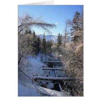 冬の流れ カード