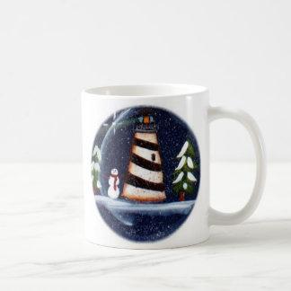 冬の灯台マグ コーヒーマグカップ