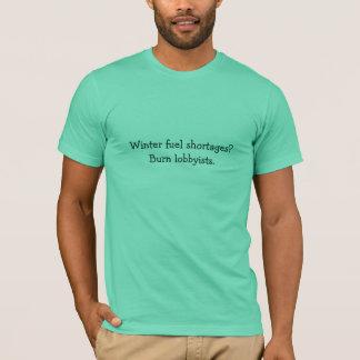 冬の燃料不足か。 Tシャツ