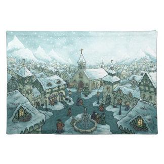 冬の町の休日 ランチョンマット