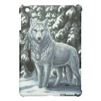 冬の白いオオカミのiPadの場合 iPad Miniケース