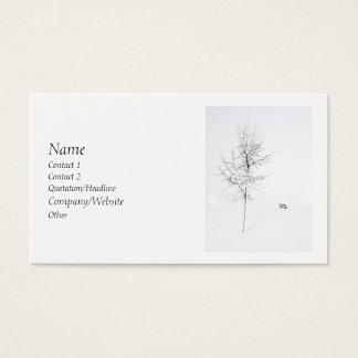 冬の白 名刺