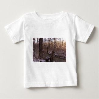 冬の砂糖の入り江(より高くから) ベビーTシャツ