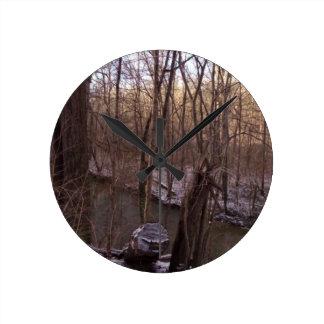 冬の砂糖の入り江(より高くから) 時計
