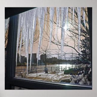冬の窓 ポスター