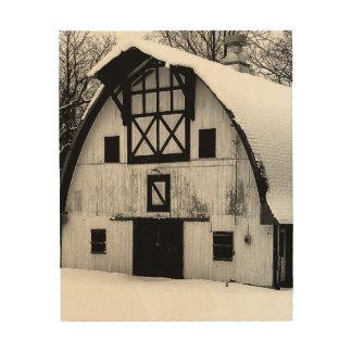 冬の納屋 ウッドウォールアート