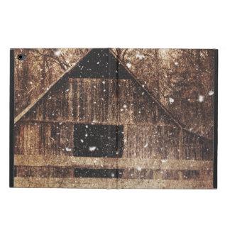 冬の素朴で古い納屋 POWIS iPad AIR 2 ケース
