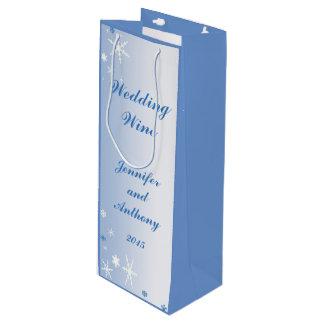冬の結婚式のワインのギフトバッグ ワインギフトバッグ