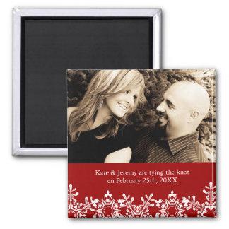 冬の結婚式の保存日付 磁石