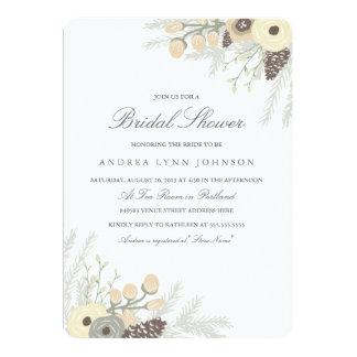 冬の群葉のブライダルシャワーの招待状 12.7 X 17.8 インビテーションカード