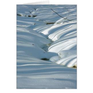冬の自然なマシュマロ カード