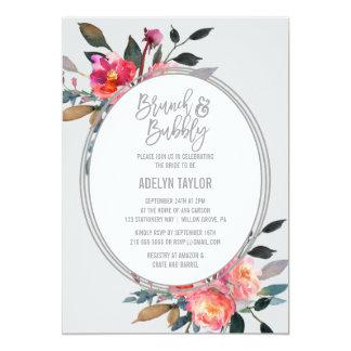 冬の花のリースのブランチおよび快活 カード