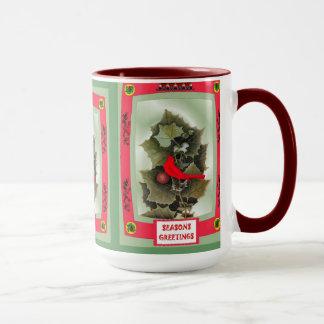 冬の葉および果実 マグカップ