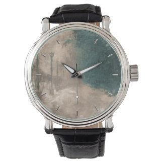 冬の見通し 腕時計