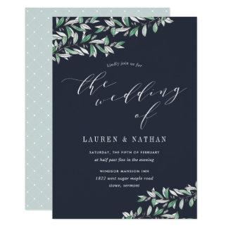 冬の賢人の結婚式招待状 カード