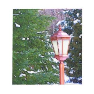 冬の赤いランタン ノートパッド