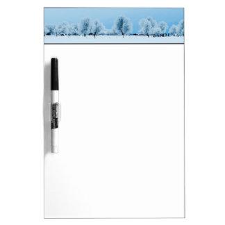 冬の農場 ホワイトボード