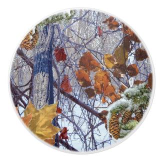 冬の迷彩柄のカムフラージュの絵画 セラミックノブ