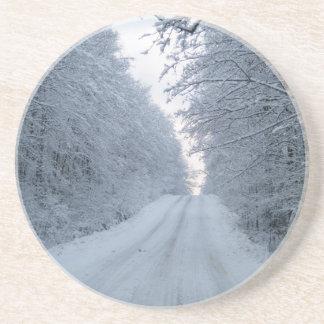 冬の道の木場面 コースター