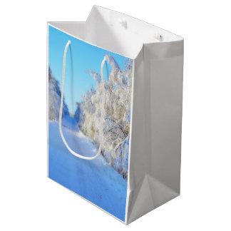 冬の道 ミディアムペーパーバッグ
