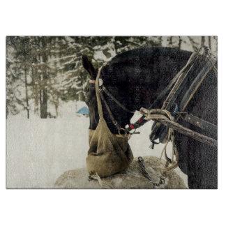 冬の間の馬の食べ物の干し草 カッティングボード
