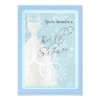 冬の降雪のブライダルシャワー カード