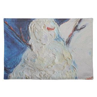 冬の雪だるまのランチョンマット ランチョンマット
