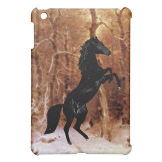冬の雪のipadのfriesian iPad miniケース