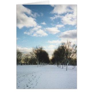 冬の雪カード カード
