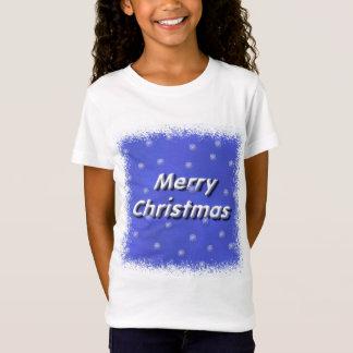 冬の雪片のメリークリスマス Tシャツ