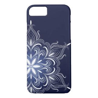 冬の雪片のiPhone 7の場合 iPhone 8/7ケース