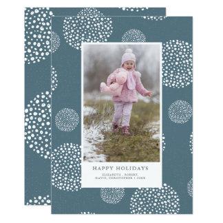 冬の雪玉の休日の写真 カード