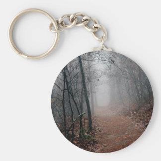 冬の霧-道のギフトの視力の端無し キーホルダー