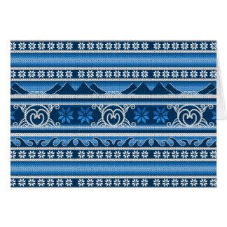 冬の青い北欧のデザイン カード