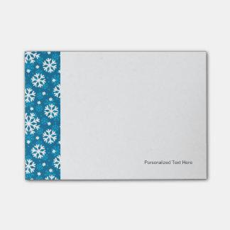 冬の青い雪片パターン ポストイット