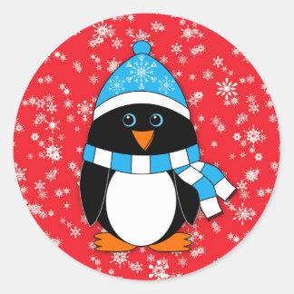 冬の風変わりなペンギン ラウンドシール